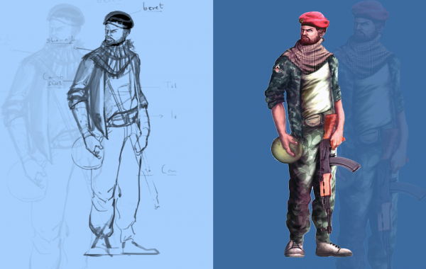 Action Game character Concept 1