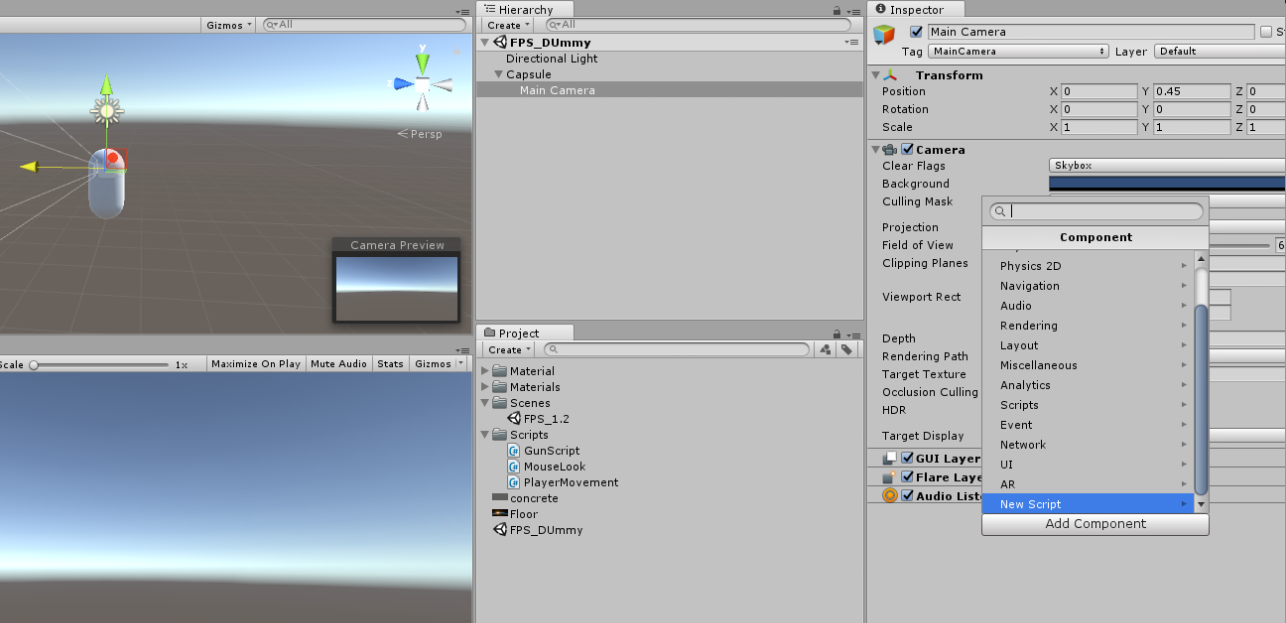 Unity Fps Mouse Look